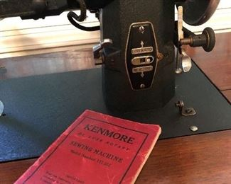 Kenmore sewing machine in wooden case