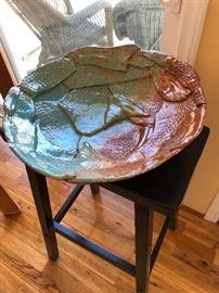 Beautiful signed pottery bowl