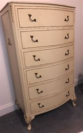 French style antique 6 drawer chest, nice!