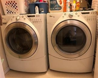 Whirlpool Duet Steam washer and dryer