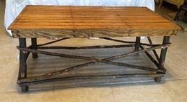 Twig coffee table, oak top