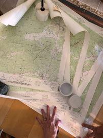 Large Georgia trail maps