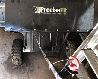 Precise Fit pull behind mower cart