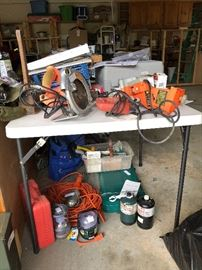 Power tools, camper stove and more