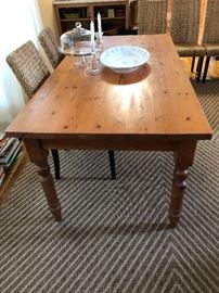 6ft by 3ft vintage pine table
