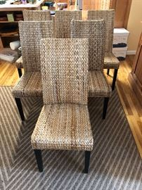 Six Rattan chairs plus two more than forgot to be in the picture....coming soon all eight!