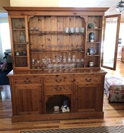 English  Pine Hutch, 2 pieces, beautiful!