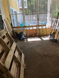 Lots for yard and hand tools! Perfect for digging in the dirt!