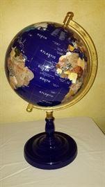 "Gemstone World Globe       Base to top is 24"""