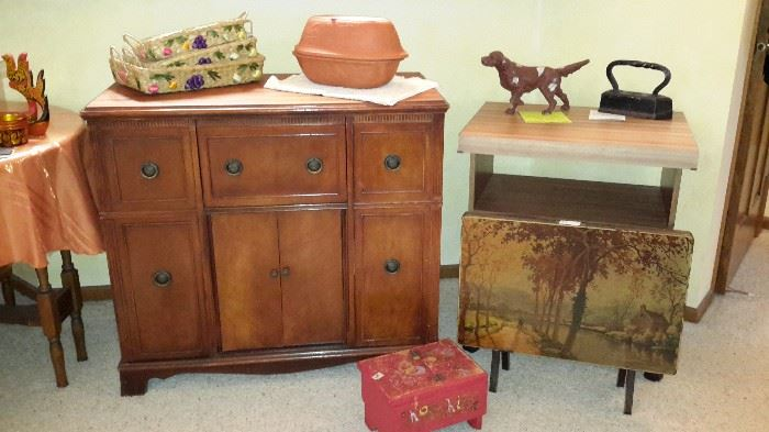 Vintage cabinet / several small cabinets some primitive from 1950's farm