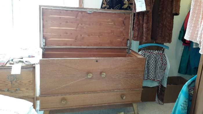 Retro Cedar Chest  $50   ///  Vintage Mink  $50