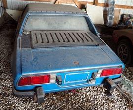 1974 Fiat M Bertone X1/9, 2 Door Coupe, title #ACA474766, Vin#128AS023598, body Style Tudor, 4 Cycle, 18 HP