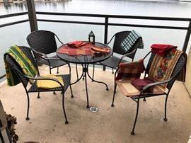 Small patio bistro set
