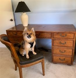 Artefacts desk by Henredon mid Century Modern desk and chair