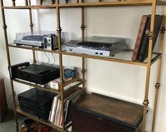 Record players, nice display shelves.