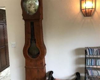 Antique French Morbier tall case clock