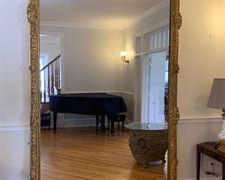 "16. Antique French Chateau Gilt Framed Chateau Pier Mirror (68"" x 120"")"
