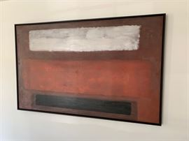 "Rothko Style Abstract Panting (67"" x 43"")"