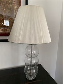 "5. Glass Ball Table Lamp (27"")"