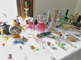 More than 100 antique perfume bottles!