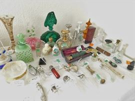 Tear catchers, flasks, double sided, decanters, even a tiny sterling violin!