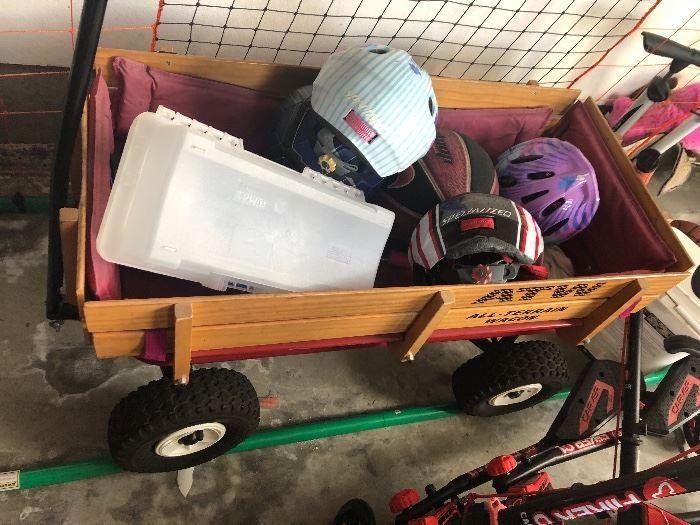 Wagon, helmets