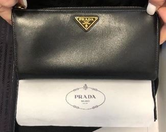Prada wallet in box