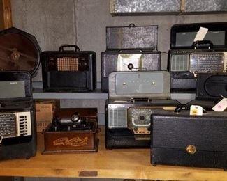 zenith wave magnet short wave radios, edison cylinder player