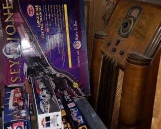 toy train set, hess trucks