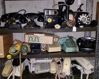 pay phone, antique phones. and vintage dial phones