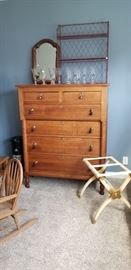 Early 1800's empire dresser. all pulls present