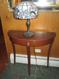 LEADED GLASS LAMP  WALL TABLE