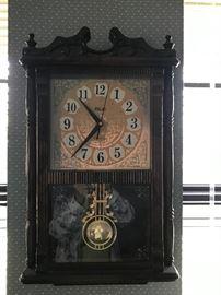 Lined wall clock