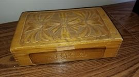 Small carved box