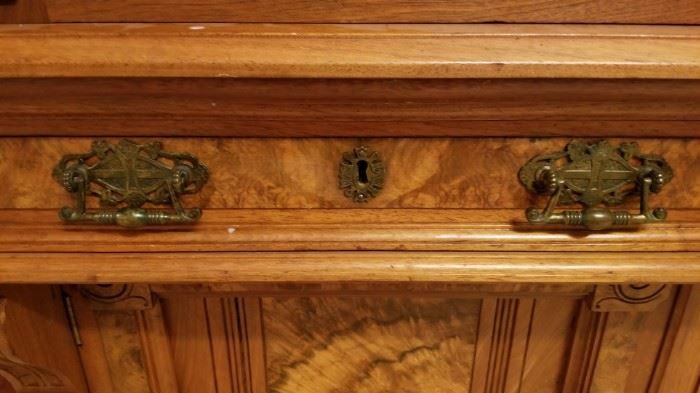 Close up of handles
