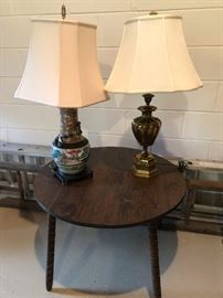 solid brass and porcelain lamps