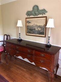 Davis Cabinet company cherry wood sideboard