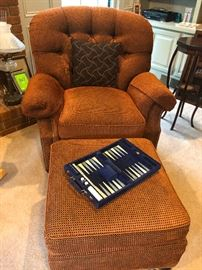 upholstered comfy chair
