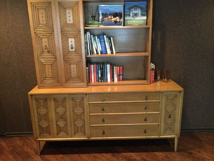 "Mount Airy CasaLinda Collection:  Chest, Bookcase in 2 separate pieces, sold as one:  72"" wide x 19"" deep x 76"" high"