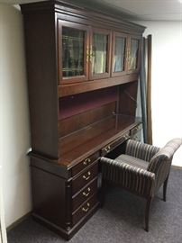 OFS Office Desk with Bookcase and Chair