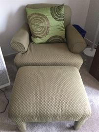 Quilted Chair and Ottoman