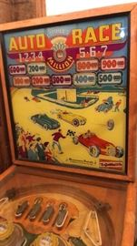 Gottlieb and Company Auto Race Pinball Machine - needs repair - will not power up