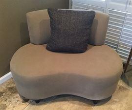 Closer look at modern chair