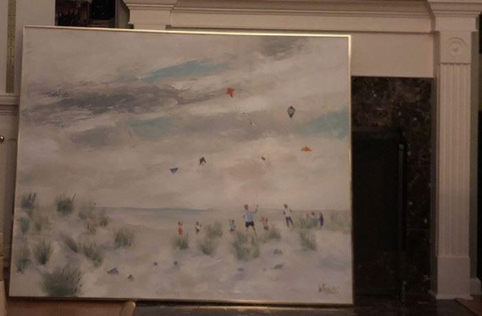Lee Reynolds Painting 60x48 Vintage Vanguard Studios