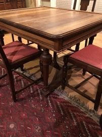 French Oak Vintage table and chairs Antique