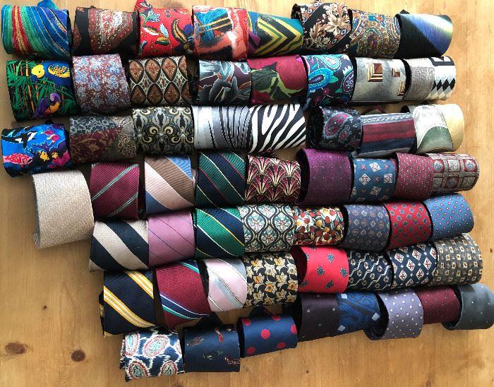 Italian silk ties