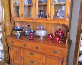 MapleYoung Republic  Hutch, Glassware, Pressed Glassware, Ruby Red