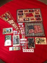 Felt Flags and Antique Postcards