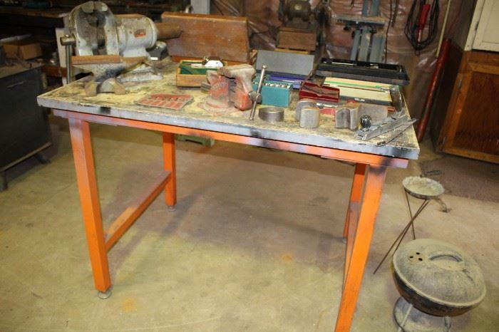 Metal Top Table