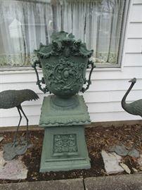 Victorian cast urn